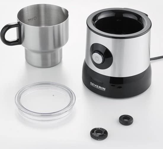 Severin SM 3582 - Melkopschuimer - Zilver/zwart
