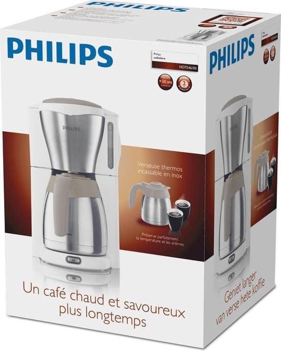 Philips Café Gaia HD7546/00 - Koffiezetapparaat - Wit/zilver